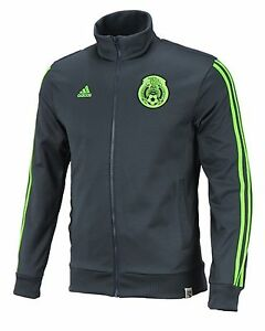 Adidas Men FMF Mexico Track Top Jackets Green Football Soccer ...