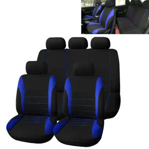 Blue-Car-Seat-Covers-Protectors-Universal-Washable-Dog-Pet-Front-Rear-Full-Set