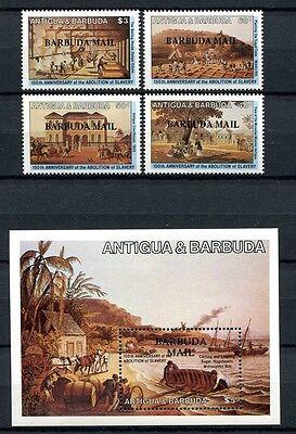 Barbuda 1984 Sklaverei Gemälde Plantagen Paintings Slavery 750-53 Block 86 Mnh