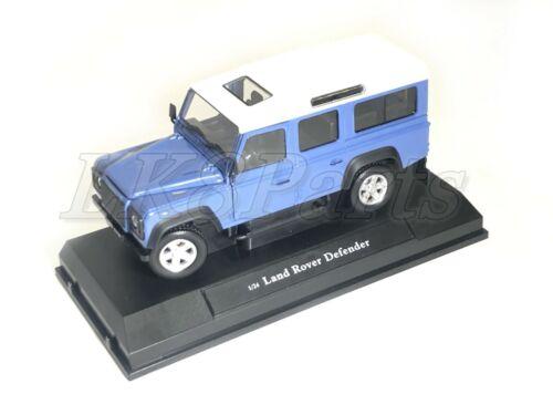 Land Rover Defender 110 New Die Cast 1:24 Scale Model in Grey Blue Color DA1633