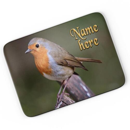 Personalised Red Robin Mouse Mat Pad Computer Gaming British Bird Gift SH212