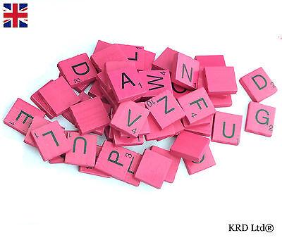 500 x en bois carreaux de Scrabble Lettres chiffres alphabet lettres scrabbles crafts