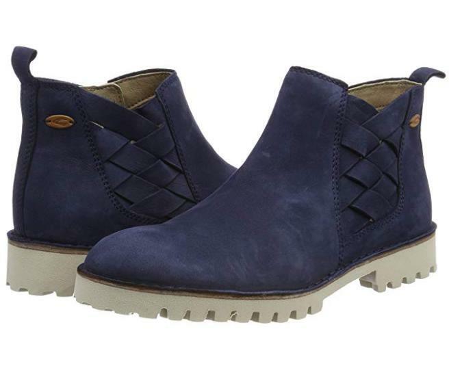 129,95 camel active Damen Radical 70 Velvet Nubuk Stiefeletten Schuhe Blau 39