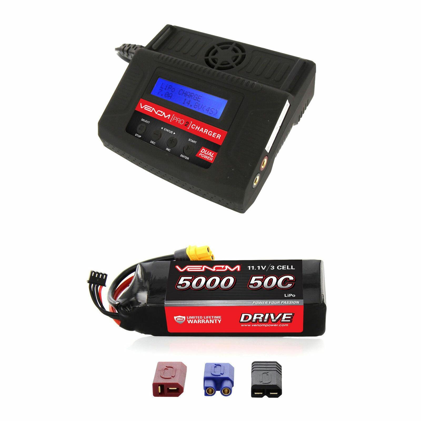 Venom 50C 3S 5000mAh 11.1V Batería Lipo Y Cargador Combo Pro 2