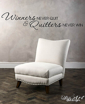 WINNERS QUITTERS WALL ART VINYL DECAL STICKER SPORTS QUOTES VINCE LOMBARDI