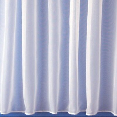 PLAIN WHITE NET WINDOW CURTAIN 1146, LEAD WEIGHTED