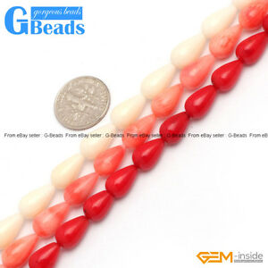 7x12mm-Teardrop-White-Pink-Red-Coral-Beads-For-Jewelry-Making-Free-Shipping-15-034