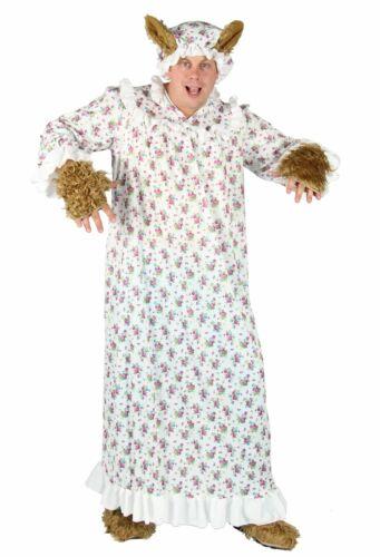 Méchant grand-mère Costume Conte De Fées méchant loup wolfkostüm avec capot grand-mère Taille M-XXXXL