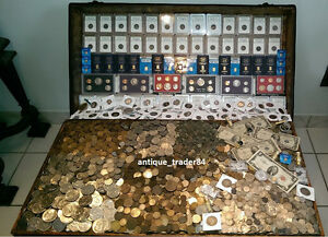 100-Coin-Lot-From-Old-Estate-Hoard-GOLD-999-SILVER-BULLION-Proof-Roman
