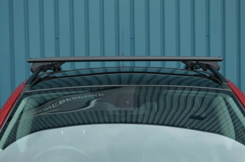 2011+ Black Cross Bars For Roof Rails To Fit Range Rover Evoque 100KG Lockable