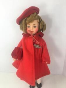 Ideal-Shirley-Temple-ST-12-Doll-Bambury-1958-Red-Wool-Coat-9535-Slip-Pin-Lot-8