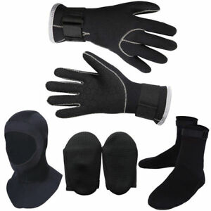 New-3PC-Snorkeling-Boots-Gloves-Hat-Water-Sports-Swimming-Scuba-Diving-3mm-Socks