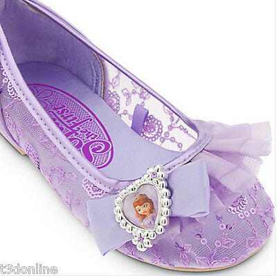 DISNEY PRINCESS SOFIA THE FIRST COSTUME DRESS SHOES GIRL KIDS AUTHENTIC NEW