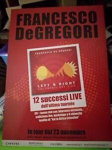 NO CD/LP - FRANCESCO DE GREGORI - CARTONATO PUBBLICITARIO - LEFT & RIGHT - cm48x