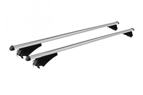 M-Way Lockable Aluminium 120cm Car Roof Rack Rail Bars to fit Seat Leon ST 2015/>