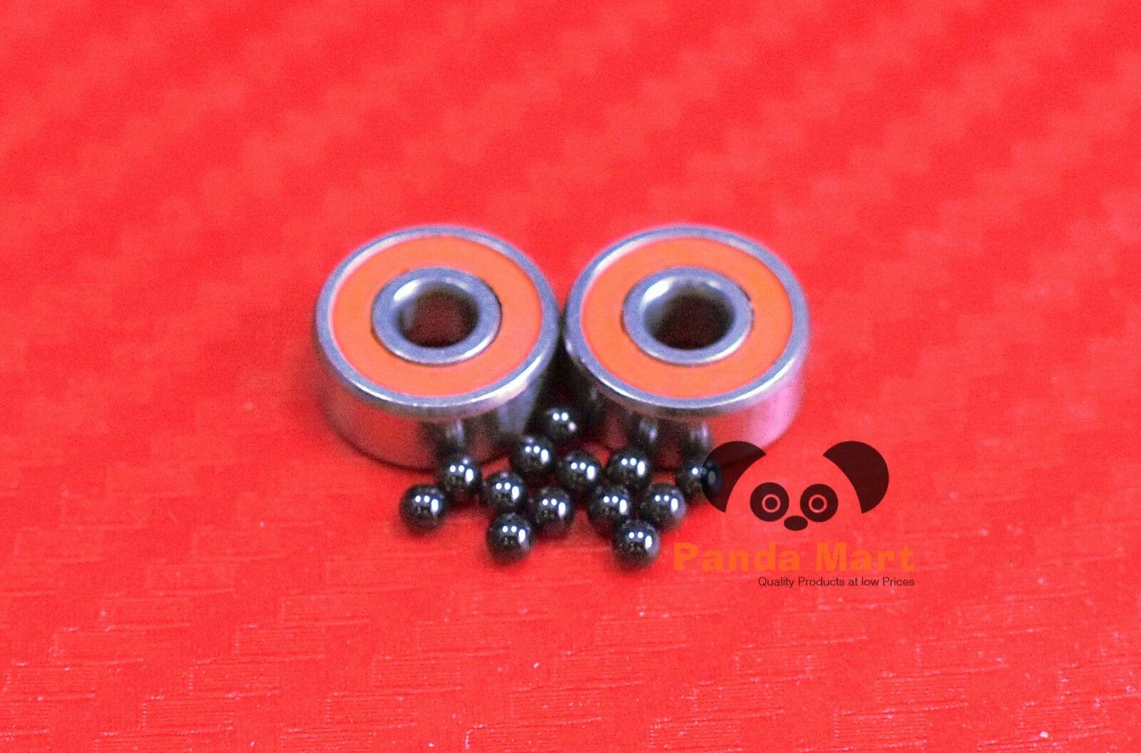 [QTY 10] SR188C-2OS ABEC-7 HYBRID CERAMIC Ball Bearings (1 4  x 1 2  x 3 16 )