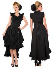 Banned Black Gothic Dress Corset Steampunk Copper Victorian Vintage Fancy Lace S