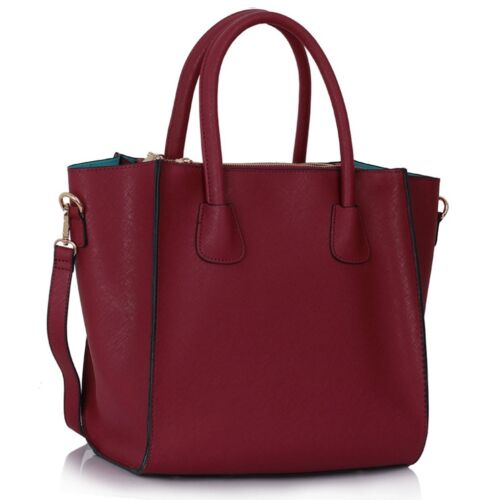 Women/'s Faux Leather Fashion Shopper Shoulder Handbags Tote Bags For Women