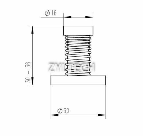 200mm 8mm T8x2 Lead Screw Trapezoidal ACME w// Delrin Anti-Backlash Nut kit