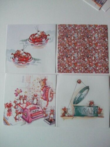 "Hunkydory 25 mix Little Book of Card Toppers /""Mice to meet You/"" see pictures"