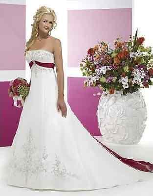 2017 A00105 Hochzeitskleid - Hochzeitskleid - In Satin Bestickt - 2 Farben