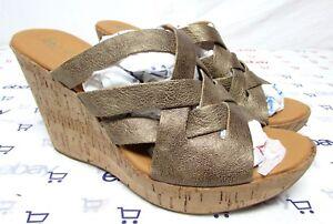 c55538ce0a5 Korks Kork Ease size 10 high heel sandals platform wedge leather ...