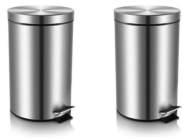 Bennett Center Open Trash Can Small Office Metal Wastebasket Modern Home For Sale Online Ebay