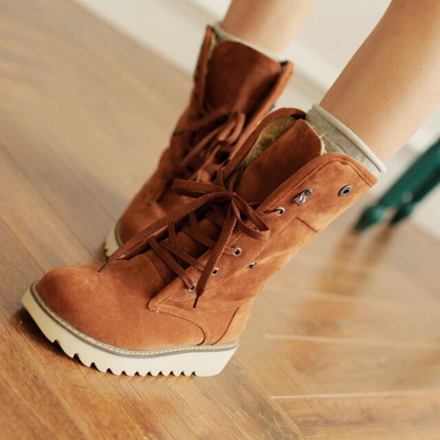Fashion Women boots comfort shoes flats round toes Ankle Winter Warm boots