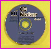 Nti Easy-to-use Cd And Dvd Maker Gold 6.7 98 Me Nt 2000 Xp Burner Wav Editor