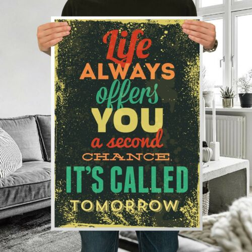 """Life Inspirational Motivational Quotes Silk Fabric Poster Decor 16/""""x24/""""inch S19"""