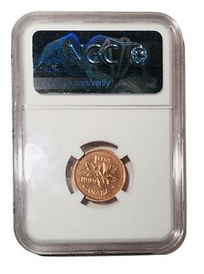 NGC-Graded-MS-63-RD-Canada-1999-Penny-One-Cent