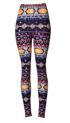 VIV Collection Printed Brushed Leggings Patterned Strings
