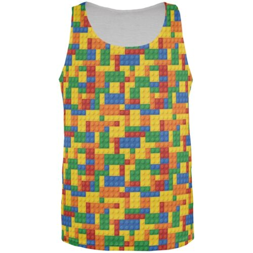 Building Blocks All Over Adult Tank Top