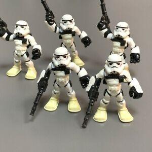 5X Playskool Galactic Heroes Imperial SandTrooper w/Commander Figure #