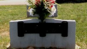 eBay & Details about 3 canister cemetery headstone permanent mount flower vase