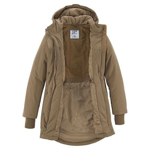 warm wattierte Winterjacke Parka Camel Beige Gr.34//36 XS//S JACKE Kapuze