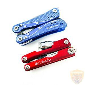 Columbia - Folding Pliers / Flashlight / Blade / Screwdriver Bit - LOT of 2