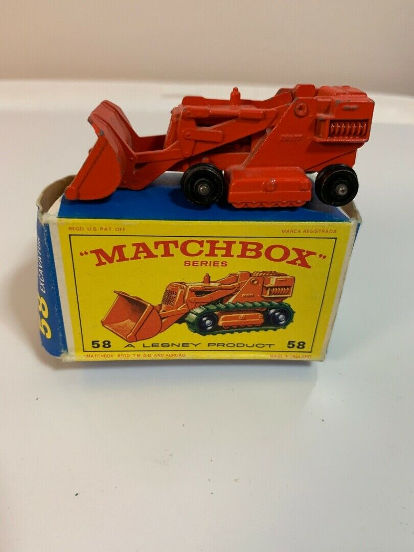 Matchbox 58b Dredt Excavator Red