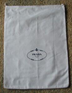Damen-accessoires Sinnvoll Prada Groß Kordelzug Logo Staubbeutel 18 0.6cm X 21 Portemonnaie Schuhe Lagerung Um 50 Prozent Reduziert