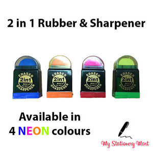 Duo-Twin-COMBO-Pencil-Sharpener-and-Eraser-Rubber-School-Stationery