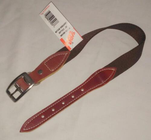 "Safari Whitco 20/"" Leather /& Nylon Dog Collar 1/"" Wide Choice of Colors NEW"