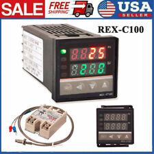 Lcd Pid Rex C100 Temperature Controller Ssr 40a K Thermocouple Heat Sink W8g5