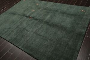 Details About 6 X 9 Hand Knotted Gabbeh Plush Pile Wool Tibetan Oriental Area Rug 6x9 Teal