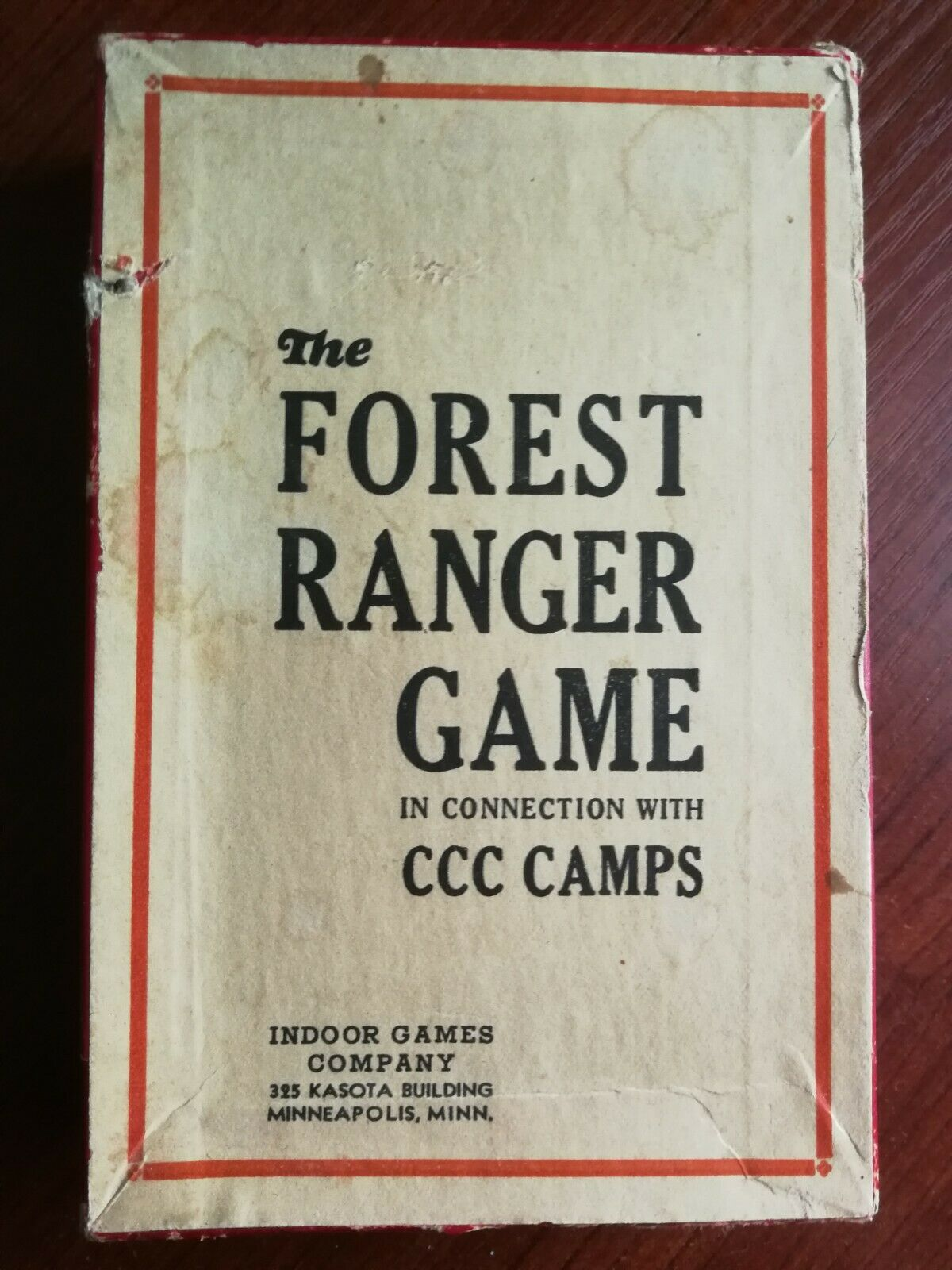 Vintage RARE 1930 S Forest Ranger Game Civil conservation Corp camps Board Game