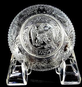 EAPG-FLINT-GLASS-LACY-SANDWICH-AMERICAN-EAGLE-3-8-034-CUP-PLATE