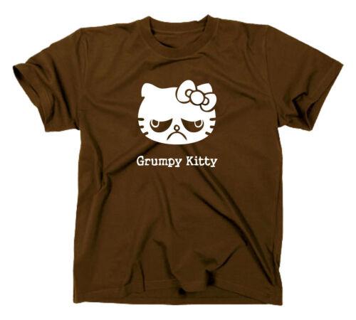 nope meme Grumpy Kitty T-Shirt fun funny kitten hello cat no