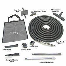 Deluxe Complete Central Vacuum Garage Car Care Kit 30' foot Hose and Attachments