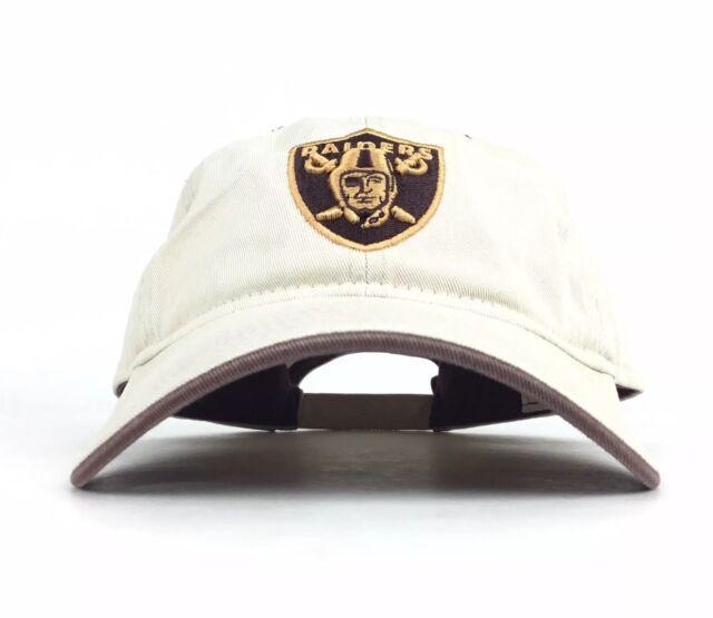 b27b2b89f3e NFL Oakland Raiders Tan Baseball Cap Hat Adj Men s Size Cotton