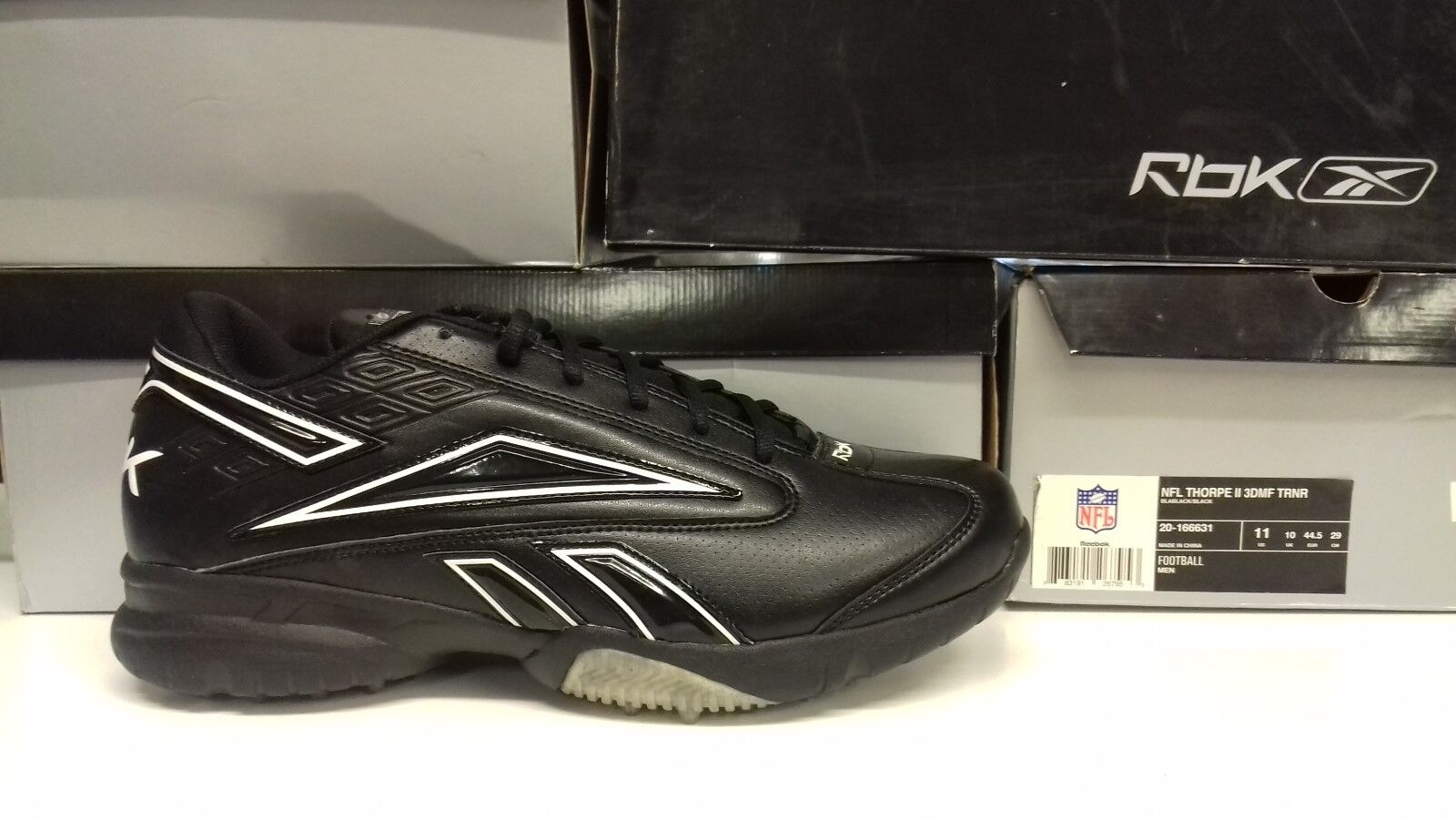REEBOK MEN FOOTBALL DMF NFL THORPE II 3 DMF FOOTBALL TR2 BLABLACK/BLACK 3e8bbc