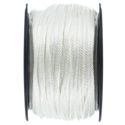 Marine 5//32 5//16 Solid Braid Nylon Rope in 1//8 3//8 3//16 1//4 and 1//2 Inch